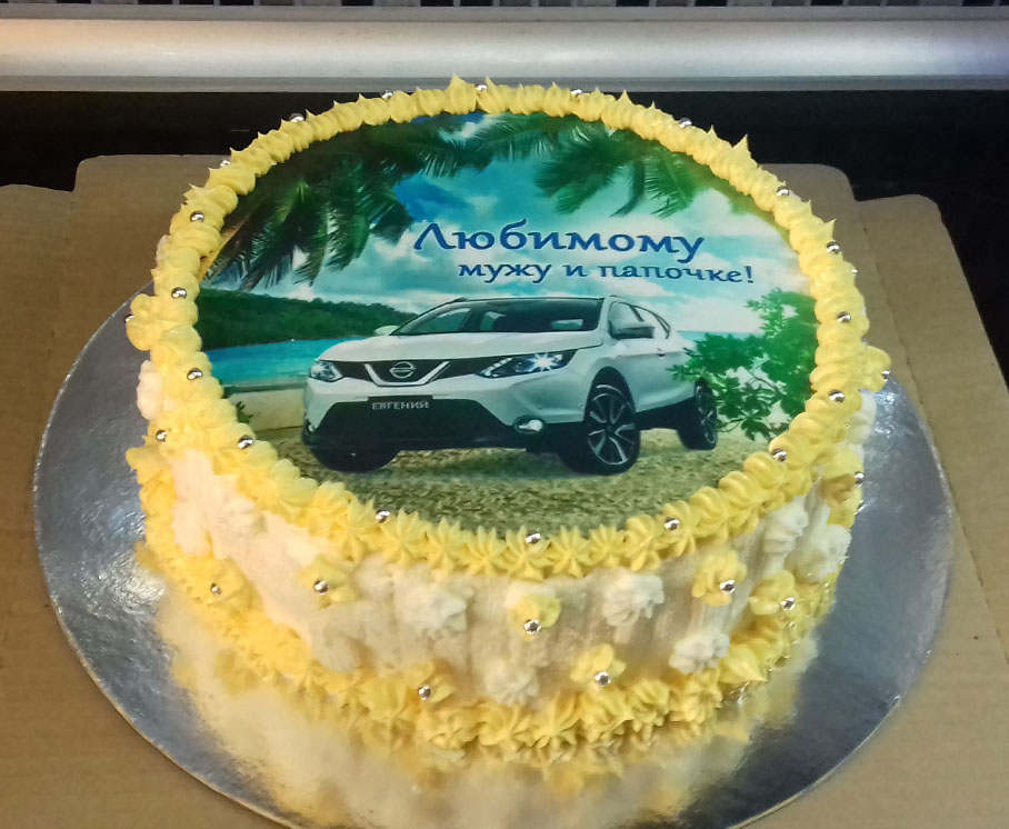 Торт с рисунком машины для мужчины фото